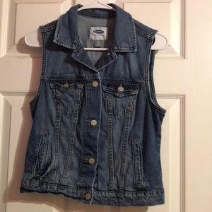 Old navy vest jean jacket